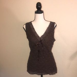 INC international concepts lace sleeveless top
